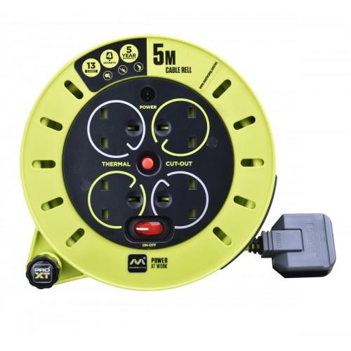 Masterplug PRO-XTCable Reel 5M  CSU05134SL-PXA