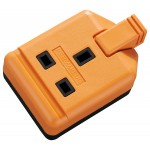Masterplug ELS13O 1 socket 13A Trailing Extension Socket Orange Heavy Duty Single PERMAPLUG