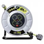Masterplug PRO-XT OTLU40134SL 40M Metal Open Reel 4X 13A