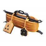 Masterplug CT151315 1 Socket 15M Extension Lead with Cable Tidy 13A Fused Orange Heavy Duty PERMAPLUG