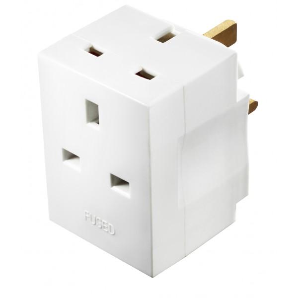 Masterplug MSF3 3 Socket Adaptor with 13A Fused
