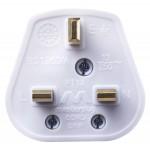 Masterplug PT13W Rewireable 13A Fused Plug White