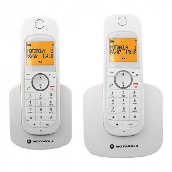 Motorola Dect1.8 & FSK/DTMF Cordless Twin telephone  MOT-D1002WH