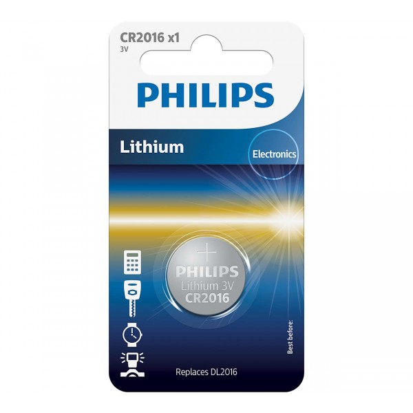 Philips CR2016/01B Minicells Button Cell Batteries CR2016 1pc/pack
