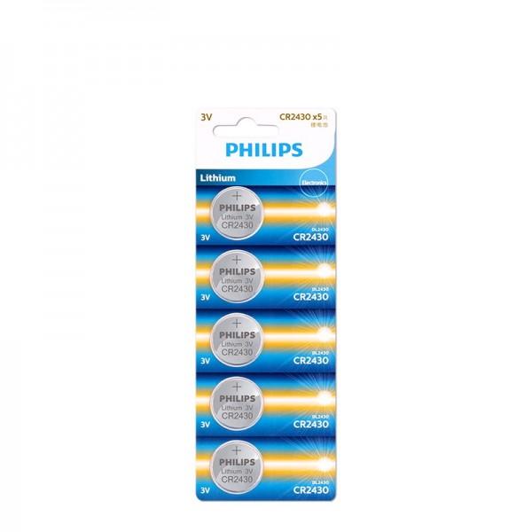 Philips Lithium Minicells Button Batteries 5pcs/pack CR2430P5B/97