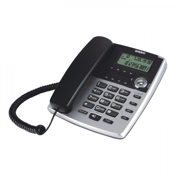 Uniden AS7401 Cored Phone with Message waiting lamp Silver