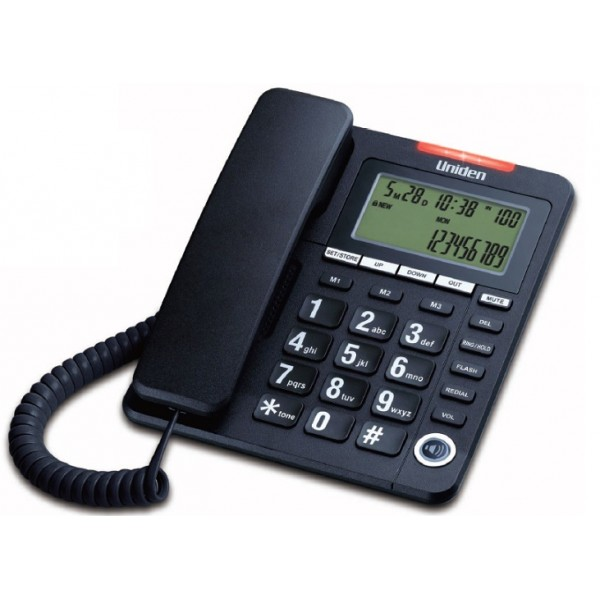 Uniden Big Button & Big Display Speaker Phone AS7408 Black