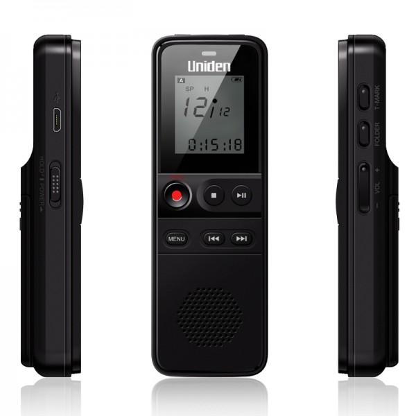 Uniden AA1103 Voice Recorder Black