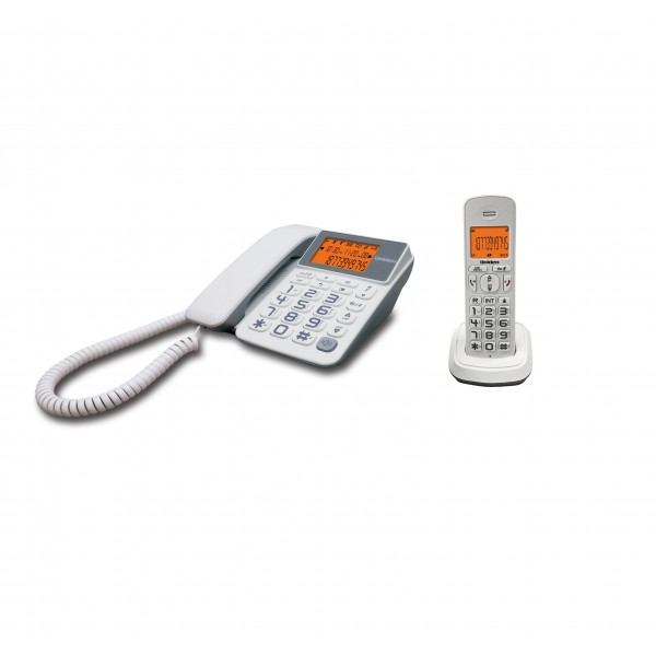 Uniden AT4503 DECT (1.8 Ghz) Corded & Cordless Combo Phone White