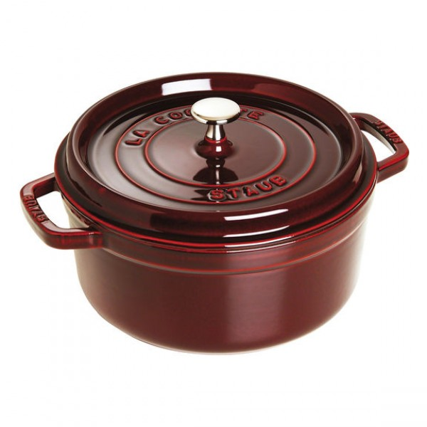 Staub 1102687 Round Cocotte Grenadine Red 26cm /5.2L Made in France