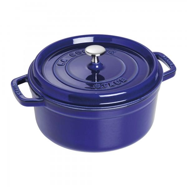 Staub 1102691 Round Cocotte Dark Blue 26cm /5.2L Made in France