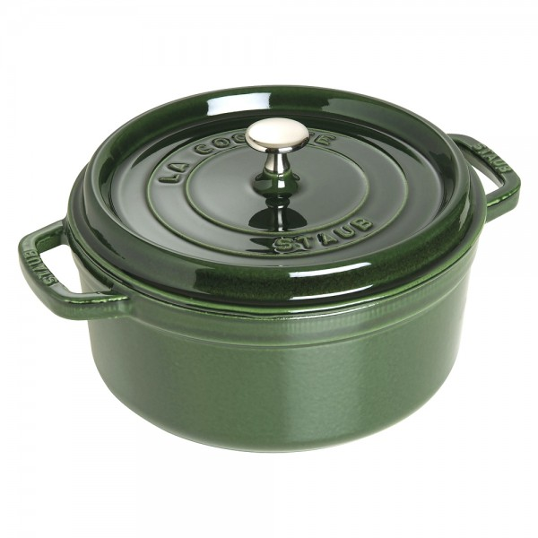 Staub 1102485 Round Cocotte Basil Green 24cm /3.8L Made in France