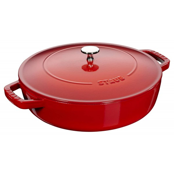 STAUB Chistera Braiser 12612406 Cherry Red 24cm Universal pan with Chistera lid /2.4L Made in France